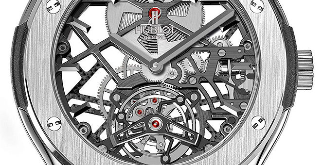 Réplique Hublot Classic Fusion Skeleton Tourbillon Titanium 505.NX.0170.LR